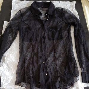 Guess lace/ mesh shirt/blouse, NWOT.